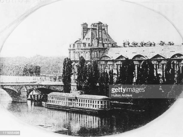 The Tuileries Palace and living rooms of King Louis Philippe I in Paris circa 1839 An early photograph by Louis Daguerre