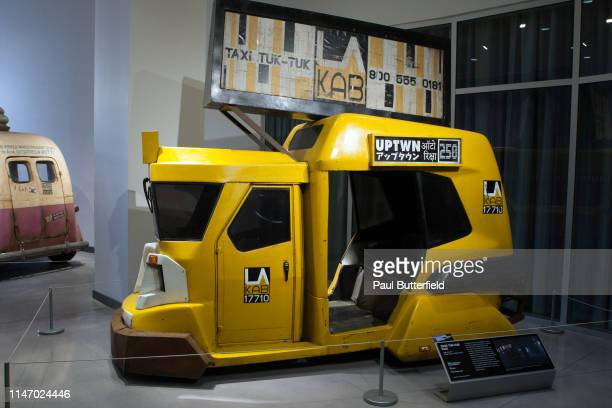The TUKTUK TAXI from Blade Runner 2049 is displayed during the opening of the new exhibit Hollywood Dream Machines Vehicles Of Science Fiction And...