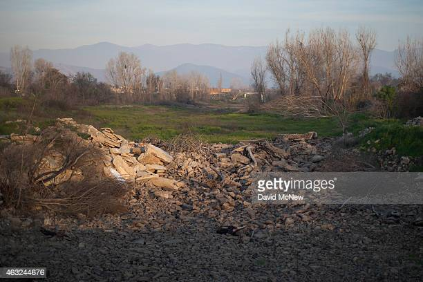 The Tule River is waterless as nearby water wells for hundreds of residents remain dry in the fourth year of worsening drought on February 11, 2015...