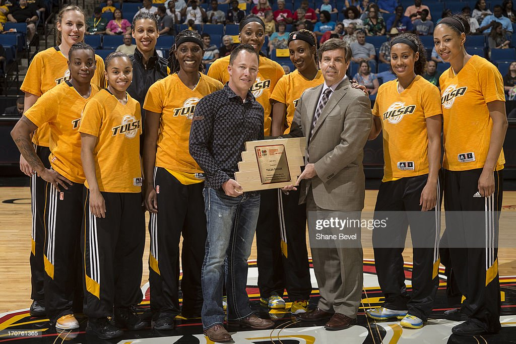 The Tulsa Shock organization was awarded the WNBA Cares Community Assist Award presented by State Farm for its contributions during the month of May to the Oklahoma tornado relief efforts during the WNBA game on June 14, 2013 at the BOK Center in Tulsa, Oklahoma.