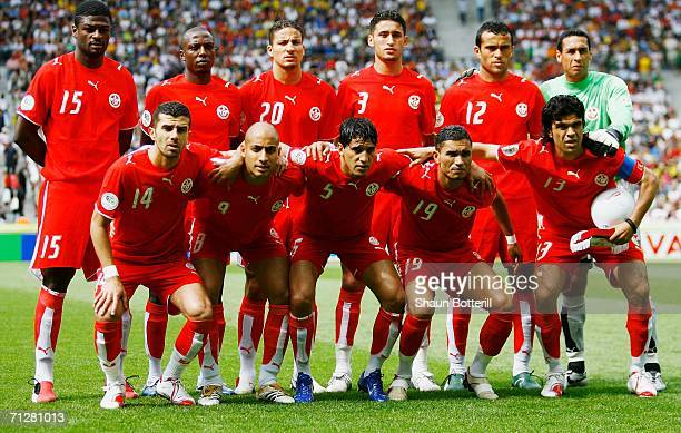 The Tunisia team line up for a group photo prior to the FIFA World Cup Germany 2006 Group H match between Ukraine and Tunisia played at the Olympic...
