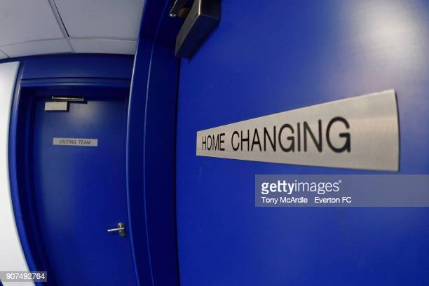 The tunnel at Goodison Park before the Premier League match between Everton and West Bromwich Albion at Goodison Park on January 20 2018 in Liverpool...