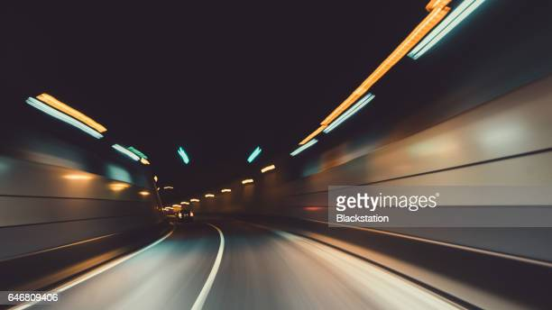 the tunnel in the city - tunnel stock pictures, royalty-free photos & images