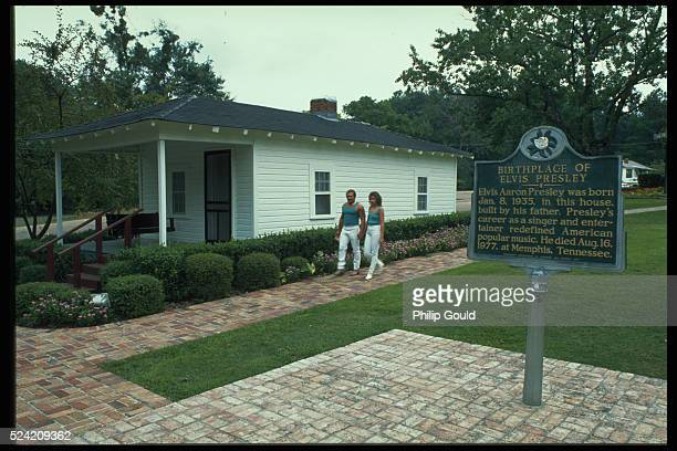 The Tupelo Mississippi home of Elvis Presley Presley was born in this house on January 8 1935
