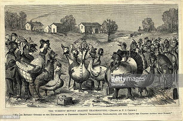 The Turkeys' revolt against Thanksgiving We are bitterly opposed to the enforcement of President Grant's Thanksgiving Proclamation and will leave the...