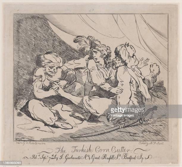 The Turkish Corn Cutter, September 7, 1801. Artist B.F. Scott.