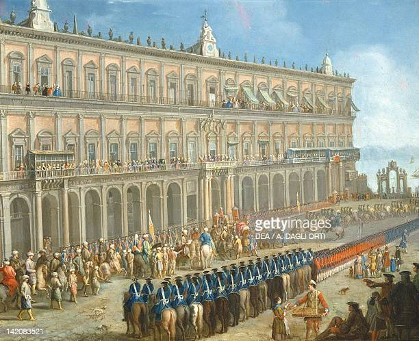 The Turkish embassy at The Royal Palace of Naples, Italy 18th century.