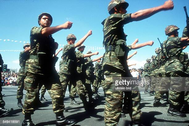 The Turkish military parade on the Independence Day in Nicosia, South Cyprus.