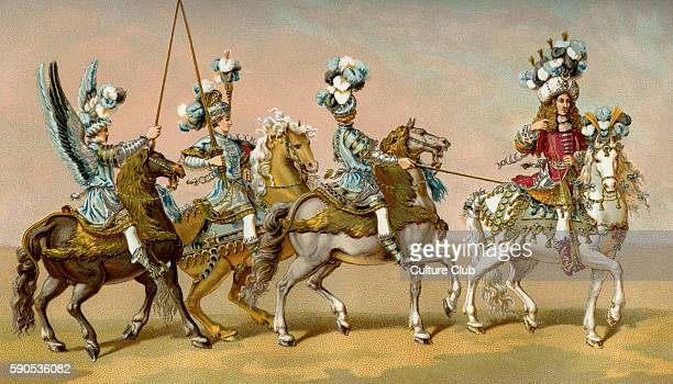 The Turkish squadron commanded by the Prince of Conde at the Grand Carrousel 1662 Organised by Louis XIV to celebrate the birth of the Dauphin Crowds...