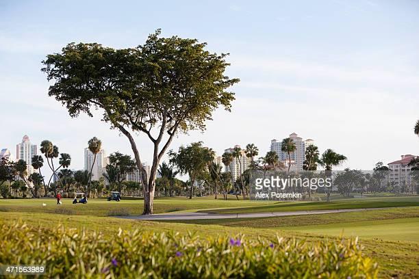 the turnberry golf course in aventura, miami suburb, florida - aventura florida stock photos and pictures