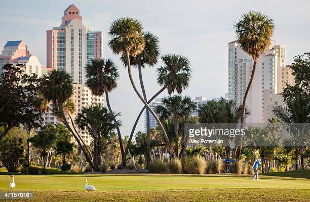 the turnberry golf course in aventura, miami suburb, florida - aventura stock photos and pictures