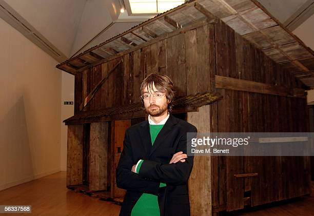The Turner Prize winner of 2005 Simon Starling poses near his award winning project Shedboatshed at the Turner Prize 2005 at Tate Britain on December...