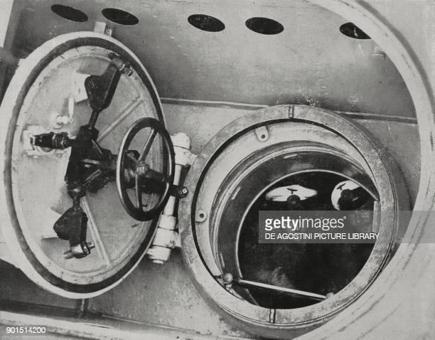 The turret of a German submarine World War II from L'Illustrazione Italiana Year LXVI No 42 October 15 1939