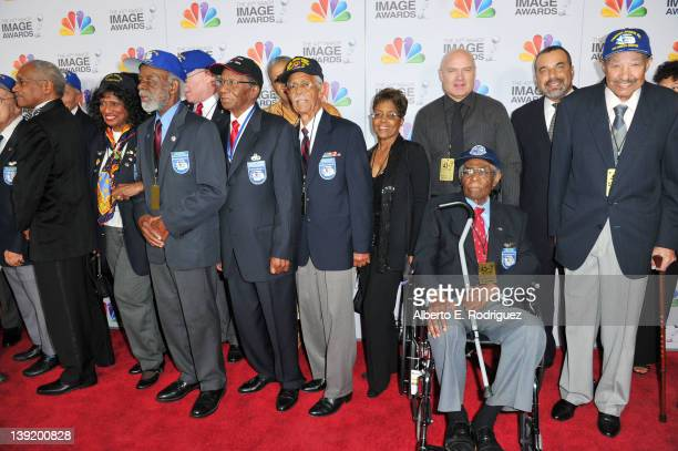 The Tuskegee Airmen arrive at the 43rd NAACP Image Awards held at The Shrine Auditorium on February 17 2012 in Los Angeles California