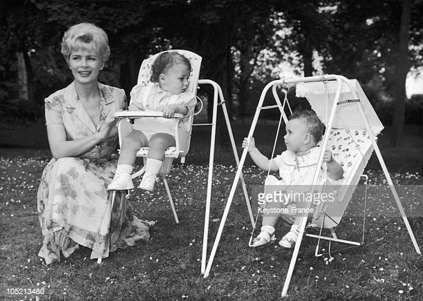 The Tv Announcer Presents Two Seats BabyRelax On June 22 1962 One Of The Two Children Is Hers