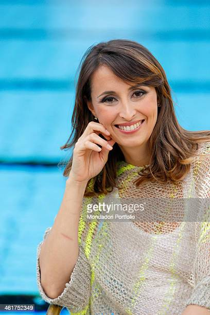 The TV host and journalist Benedetta Parodi during a photo shooting at the Sporting Club Marconi Segrate Italy 6th June 2012