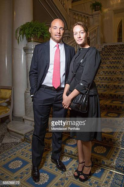 The TV host and media expert Andrea Pezzi and his partner and actress Cristiana Capotondi attending the saturday night gala at the Forum Ambrosetti...