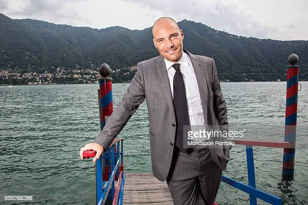 The TV host and media expert Andrea Pezzi wearing a man suit by Ferragamo at the Forum Ambrosetti in Villa d'Este Cernobbio Italy 4th September 2015
