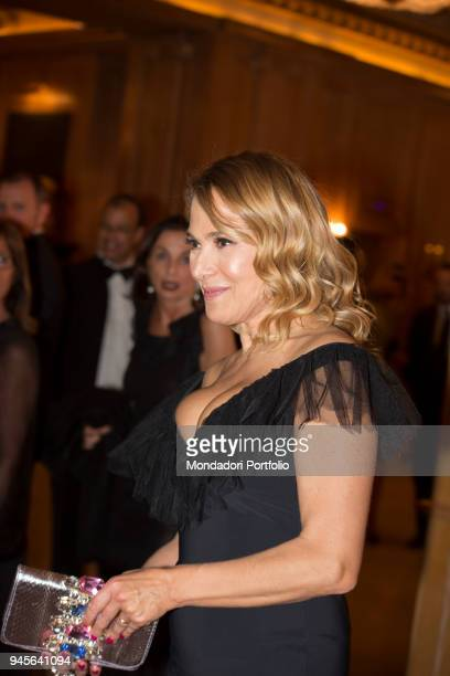 The TV host Barbara D'Urso attending the charity gala Never Give Up at The Westin Palace of Milan Milan Italy 4th April 2017