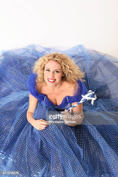 The TV presenter Antonella Clerici dressed as a fairy during a photo shooting Rome Italy 11th December 2005