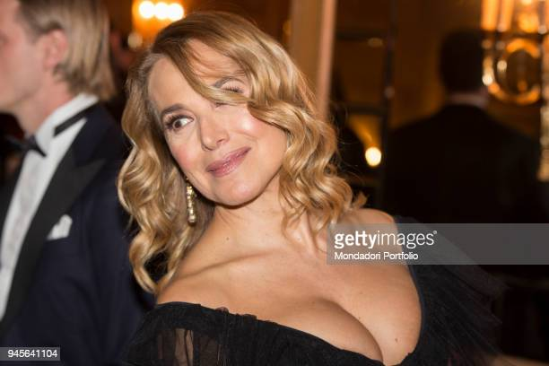 The TV presenter Barbara D'Urso attending the charity gala Never Give Up at The Milan Westin Palace Milan Italy 4th April 2017