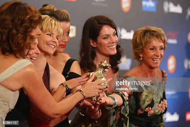 The TV soap 'In aller Freundschaft' receives the Goldene Henne Award 2008 in the category TV soap and movie at Friedrichstadtpalast on September 17...