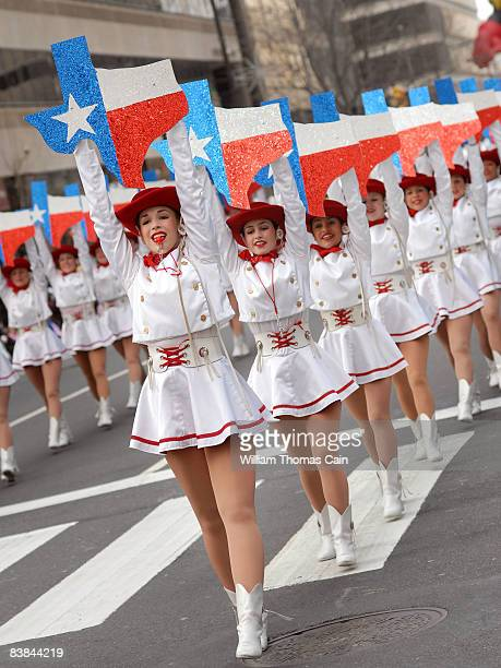 The TVCC Cardettes of Athens, Texas perform during the 6ABC/IKEA Thanksgiving Day Parade November 27, 2008 in Philadelphia, Pennsylvania. The...