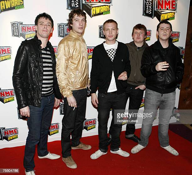 The Twang arrive at the Shockwaves NME Awards 2007 at the Hammersmith Palais in London United Kingdom