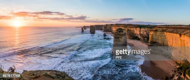 the twelve apostles - waimea bay hawaii stock photos and pictures