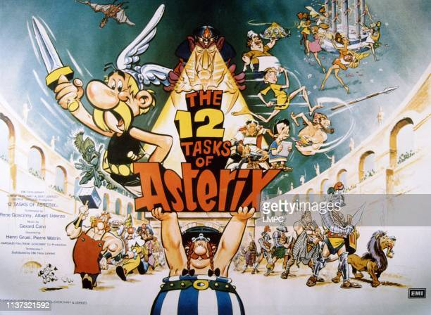 The Twelve Tasks Of Asterix poster British poster 1976