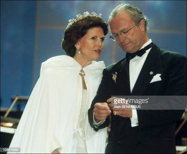 The twenty fifth wedding anniversary of King Carl Gustav and Queen Sylvia of Sweden in Sweden on June 19, 2001.