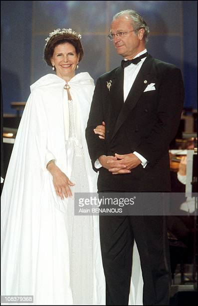 The twenty fifth wedding anniversary of King Carl Gustav and Queen Sylvia of Sweden in Sweden on June 19 2001