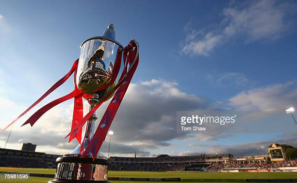 The Twenty20 Cup during the Twenty20 Cup Final match between Gloucestershire Gladiators and Kent Spitfires at Edgbaston on August 4, 2007 in...