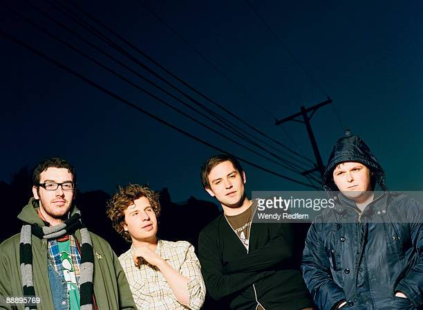 The Twilight Sad pose for a group shot in May 10 2007 in Los Angeles Ca
