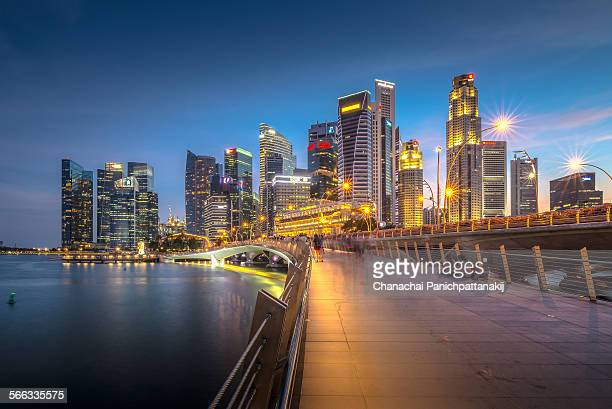 The twilight scene of Singapore city