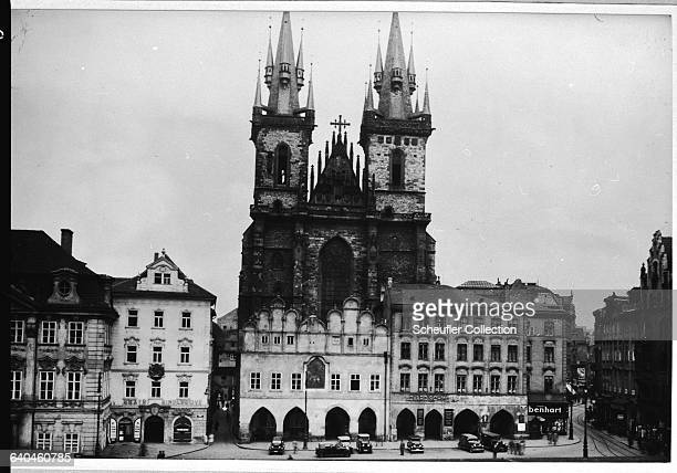 The twin bell towers of the Church of Our Lady Before Tyn