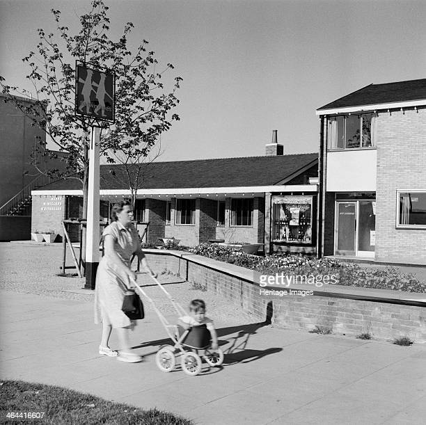 The Twin Foxes public house Harlow New Town Essex 1950s1960s Harlow New Town was established from 1947 on a greenfield site incorporating several...