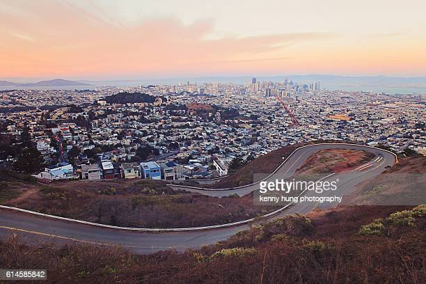 The Twin Peaks and view of San Francisco