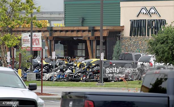 The Twin Peaks restaurant, the scene of a motorcyle gang shootout, is seen May 18, 2015 in Waco, Texas. A shootout between rival biker gangs began in...