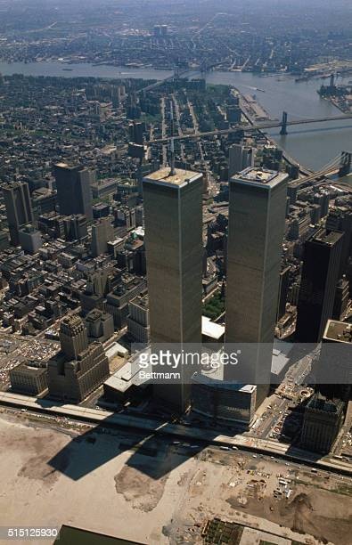 The twin towers of Manhattan's World Trade Center