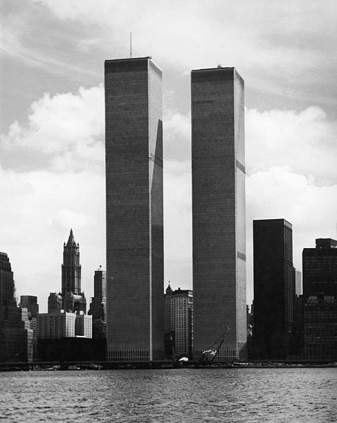The twin towers of the World Trade Center in New York,...