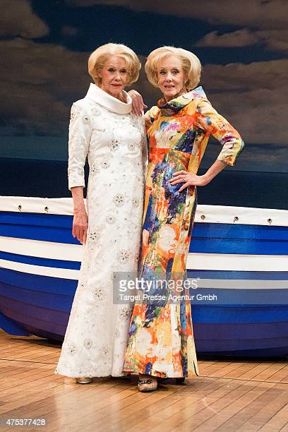 The twins Alice and Ellen Kessler attend the 'Ich war noch niemals in New York' photocall at Stage Theatre on May 31 2015 in Berlin Germany