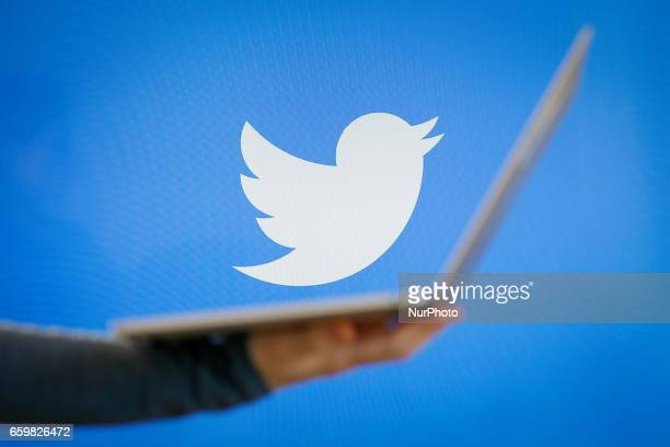 The Twitter app is seen on various digital devices on March 28 2018