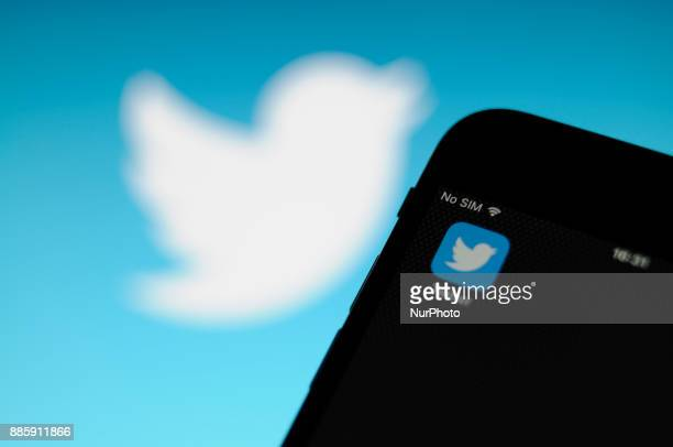 The Twitter application is seen on an iPhone in this photo illustration on December 4 2017