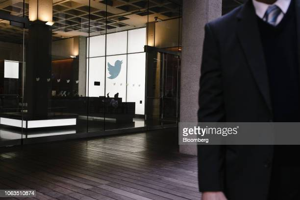 The Twitter Inc logo is displayed inside the company's headquarters in San Francisco California US on Thursday Nov 15 2018 Most tech stocks have been...