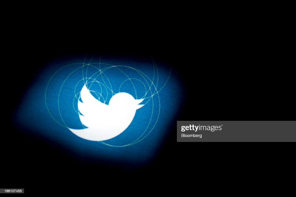 The Twitter Inc. logo is displayed on the company's preliminary prospectus arranged for a photograph in Washington, D.C., U.S., on Monday, Oct. 28, 2013. Twitter Inc., which embarks on its road show to investors today, will make the case to potential investors in its initial public offering that it needs to keep spending to grow, and profit will come once it can reap the benefits of those investments. Photographer: Andrew Harrer/Bloomberg via Getty Images