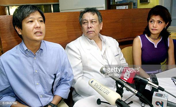 The two children of ailing former first lady Imelda Marcos, Ferdinand Marcos Jr. And Imee Marcos , along with neurosurgeon specialist Bienvenido...