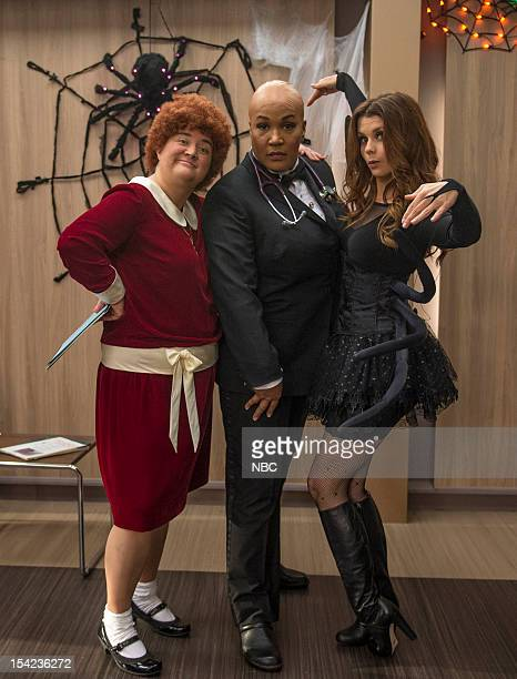 """The Two George Colemans"""" Episode 108 -- Pictured: Betsy Sodaro as Angela, Kym Whitley as Juanita, JoAnna Garcia Swisher as Dorothy Crane --"""