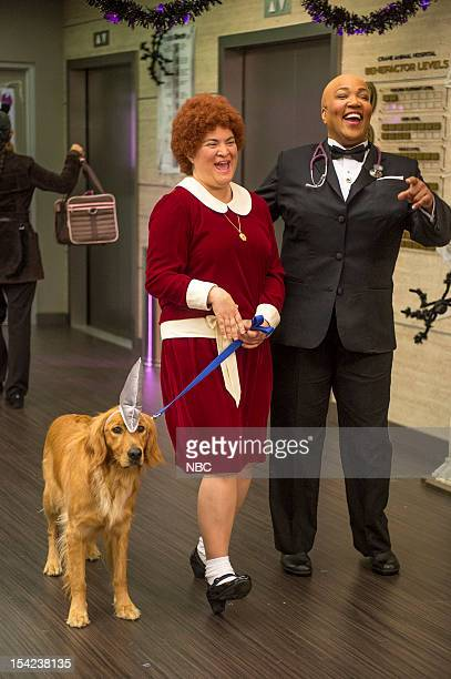 """The Two George Colemans"""" Episode 108 -- Pictured: Betsy Sodaro as Angela, Kym Whitley as Juanita --"""