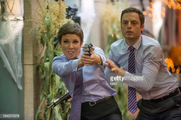 PRACTICE The Two George Colemans Episode 108 Pictured June Diane Raphael as Dr Jill Leiter Justin Kirk as Dr George Coleman